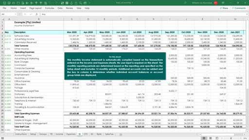 accounting templates template