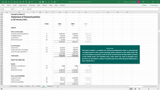 financial statements -  cc template
