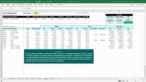 Inventory Control Template Excel Skills