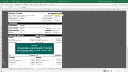 payroll templates template
