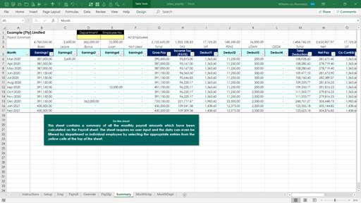 Basic Salary Excel Template Excel Skills