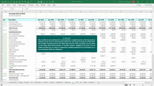 accounting - service based template